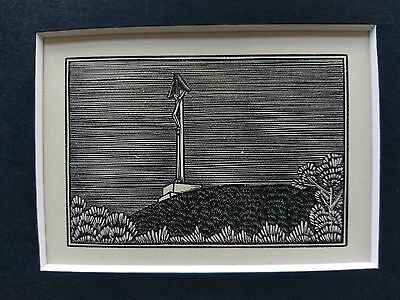 Eric Gill original wood engraving, Spoil Bank Crucifix, limited edition 1929