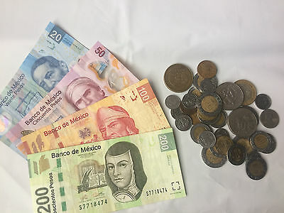 Mexico Currency Set 1,5,10,20,50,100,200 ,1000 Pesos