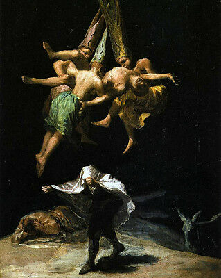 Francisco de Goya Witchs Sabbath Poster Satanic Black Magic Evil Art Revelations