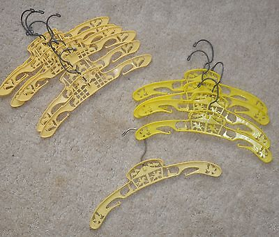 """12"""" Vintage Child's yellow Hangers Circus and Lamb Lot of 11"""