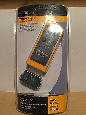 Fluke Networks Micromapper Lan Wiremap Checker Cable Tester Mt-8200-49A New
