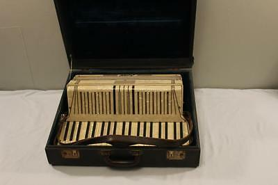 Italian Rosati Accordion Mother of Pearl In Lay with 41 Keys-120 Buttons w/Case