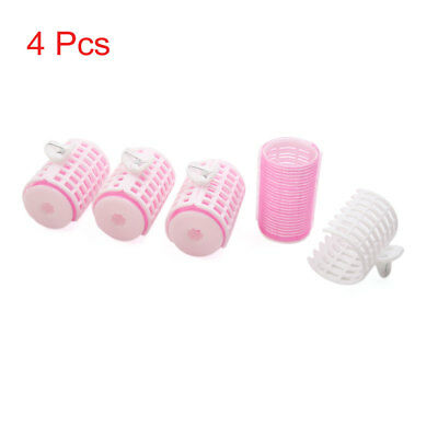 4 Pcs DIY Home Salon Hair Curlers Clips Rollers Hairdressing Tool w Handle