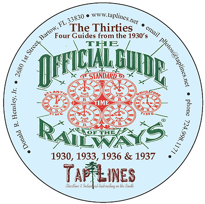 The 30s Official Guide of Railways Collection of 4 Guides on DVD 1930 to 1937