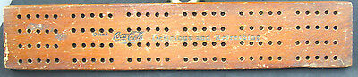 Vintage WWII COCA-COLA CRIBBAGE Game Board with 4 pins