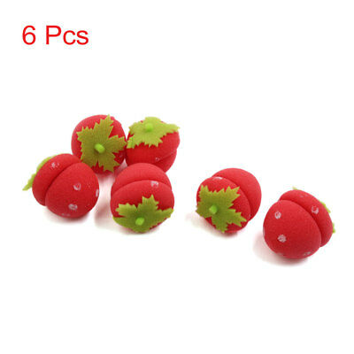 6pcs Foam Strawberry Balls Soft Sponge Home Beauty DIY Hair Curlers Rollers Bun