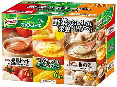 Japan Import Knorr Cup Soup vegetable potage Variety box 20 bags  Free Shiiping