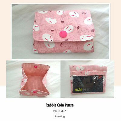 [Handmade] Rabbit Coin Purse with Card Slot Gift Iphone kid