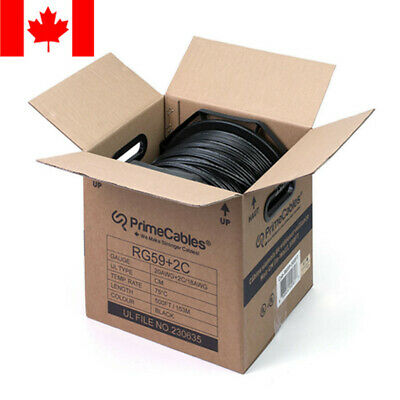 Bulk RG-59 Siamese Coaxial Solid Cable For CCTV Security Camera CM Rating 500ft