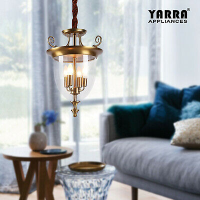 Luxury French Crystal Glass Bell Pendant Chandeliers Candelabras Brass Hanging