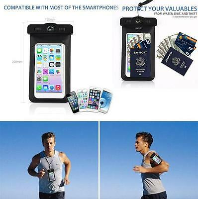 Detachable Arm Band Waterproof Case For iPhone Samsung Passport With Lanyard