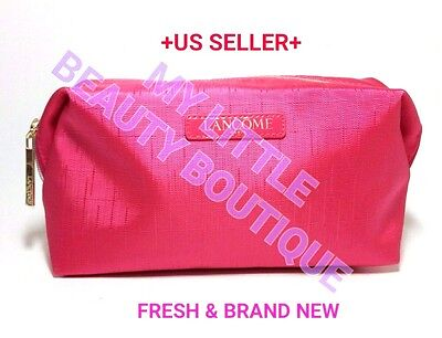 218da85d1e30 LANCOME ROSE GOLD Pink Blush Glitter Makeup Cosmetic Zippered Pouch ...