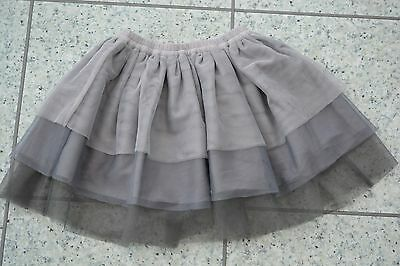Mamas and Papas Girls Special Occasion Grey Net Tulle TUTU Skirt 6-9 M + 18-24M