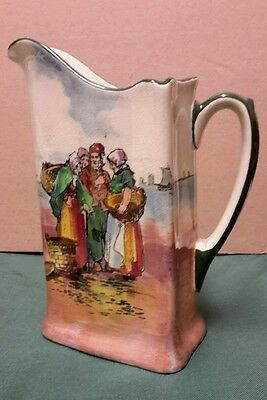 Royal Doulton Series Ware Fisherfolk A - Brittany  Large triagular shape Jug.