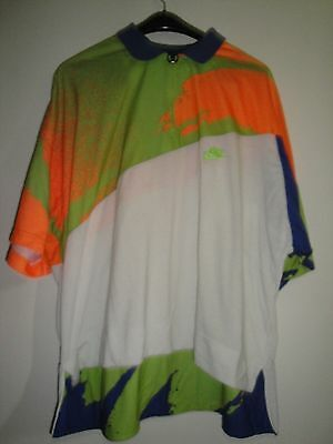 Rare Andre Agassi 1990s Vintage NIKE CHALLENGE COURT Tennis Shirt Jersey Size XL