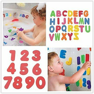 36 Pcs Baby Kids Sponge Foam Letters&Numeral Floating Bath Tub Swimming Toy Play