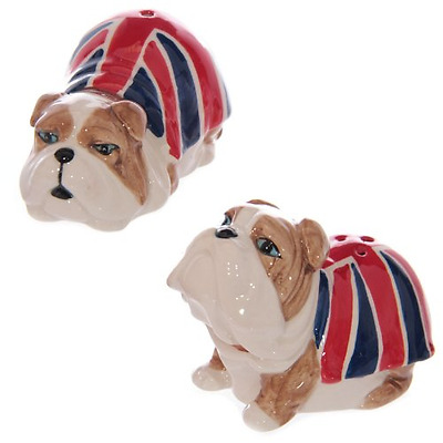 Union Jack British Bulldog Salt and Pepper Set