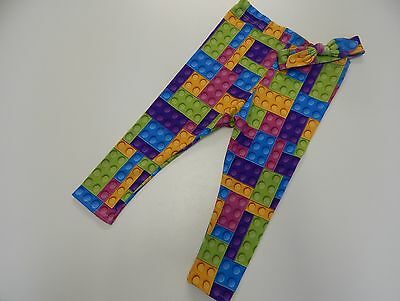 Bright Blocks - Lego Inspired Leggings and Headband Pink Purple Blue  Size 3