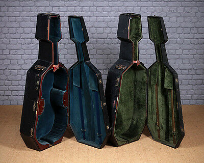 Antique Pair of Cello Cases by W.E Hill & Sons of London c.1890.