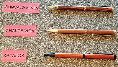 Handmade Refillable Exotic and Domestic Wood Pens