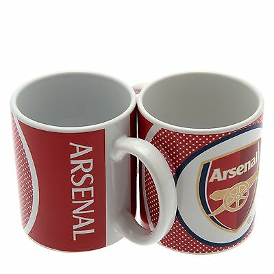 Official Arsenal Football Team Bullseye Crest Mug NEW