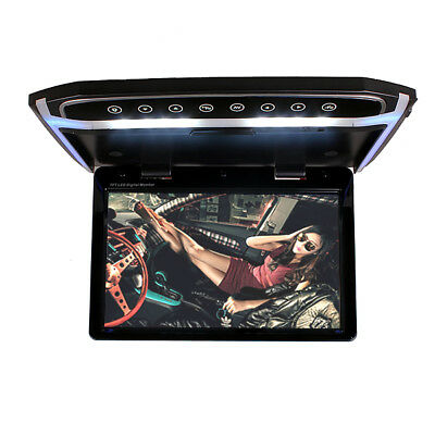 12 Inch Car Roof Overhead Flip Down Monitor Video Media Player Black Color 16GB