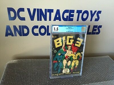 BIG 3 #2 CGC 1.5 Winter 1941 Golden Age The Blue Beetle-Samson-The Flame RARE