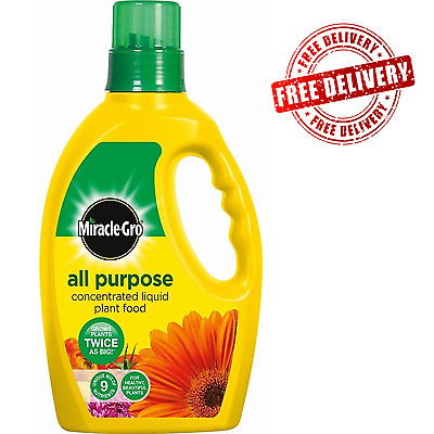 Miracle-Gro All Purpose Concentrated Liquid Plant Food Bottle, 1 L Free Delivery