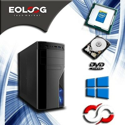 Pc Desktop Nuovo Computer Fisso Intel Quad Core 8 Gb Ram Wifi Windows Originale