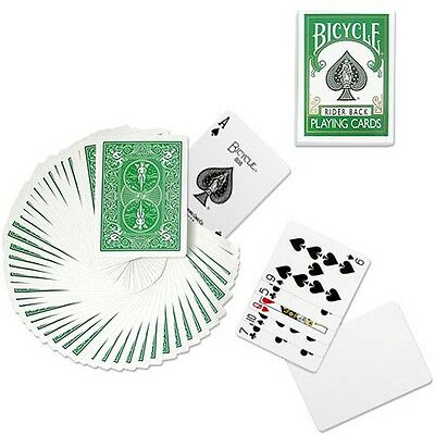 Green Rider Back Deck - Bicycle Poker Playing Cards