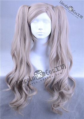 P5 Persona 5 Takamaki Ann PANTHER +2 ponytails Costume Cosplay Wig +Track +Cap