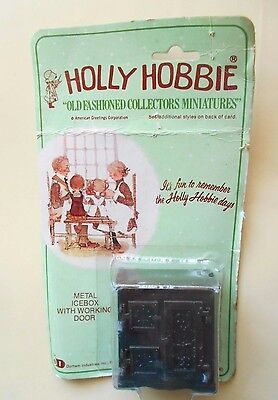 Vintage Holly Hobbie Metal Icebox n.021 DURHAM INDUSTRIES Fondo di magazzino