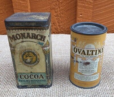 Vintage Tins - Monarch Cocoa and Ovaltine