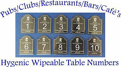 Personalised Table Numbers Pub Club Restaurant Cafe Catering