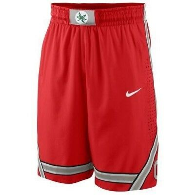 Men's Nike College Authentic On Court Shorts Ohio State Buckeyes Red MEDIUM