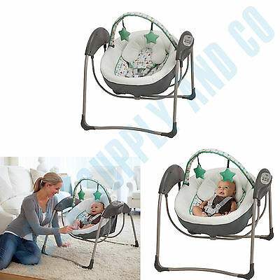 Baby Swing Portable Jungle Journey Comfort 2 Toys Bar Melodies Comfy Soft NEW