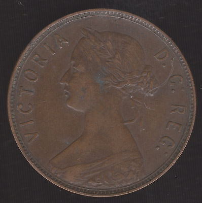 Canada, Newfoundland- 1876 H One Cent VF KM# 1 Victoria Large 1 Penny