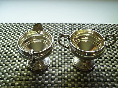 FB Rogers Silver Co Sterling Silver Creamer & Sugar bowl 1883 Trademark