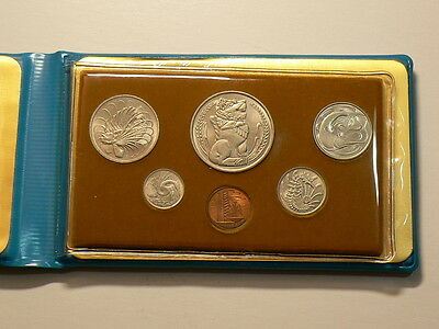 Singapore 1977, 6 Coin Year Set, Year Of The Snake #G4223
