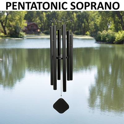 Music of the Spheres - PENTATONIC SOPRANO - 30 Inch Wind Chime Matte Black