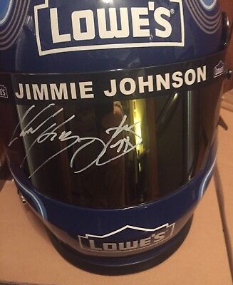 JIMMIE JOHNSON Signed Autographed Lowe's 48 Full Size Helmet 7 X Champion NASCAR
