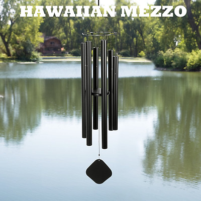 Music of the Spheres - HAWAIIAN MEZZO - 40 Inch Wind Chime Matte Black