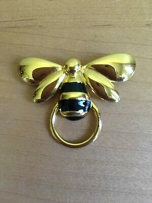 BEE Pin / eyeglass holder - Gold & Black tones (Gold Tone wings)