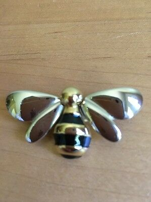 BEE Pin - Gold, Silver, & Black tones (Silver tone wings)