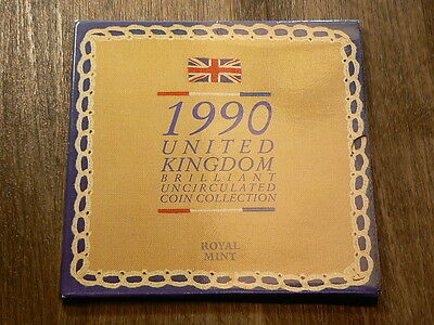 1990 United Kingdom Royal Mint 8 Coin Year Set #G5004