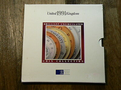 1991 United Kingdom Royal Mint  7 Coin Year Set #G5005