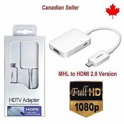 New Micro USB MHL to HDMI HDTV Cable Adapter Samsung Galaxy S5 S4 S3 Note 2 3 4