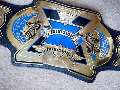 TNA X Division Championship Metal Plate Real Leather Belt