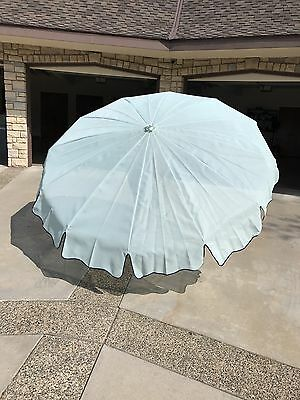 New Vintage Retro Outdoor Finkel Umbrella - Baby Blue