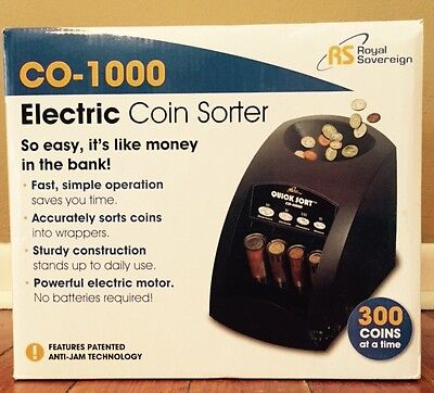 Royal Sovereign Electric 1 Row Coin Sorter - Sort's 240 coins/min - RSICO1000